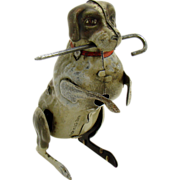 German Hopping Dog with Cane Wind-up Toy - 1940's