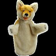 Steiff Mohair Fox Hand Puppet - 1950's
