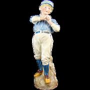 Heubach Bisque Baseball Player Statue - 1880's