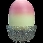 Thomas Webb Burmese Glass Fairy Lamp - 1915