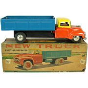 Tin Friction Truck Toy - Mint in Box - 1950's
