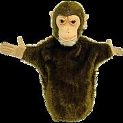 Early Steiff Jocko The Monkey Mohair Hand Puppet - 1920's