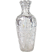 Large American Brilliant Period Cut Glass Vase
