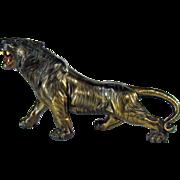 Large Siberian Tiger Centerpiece Sculpture - 1910
