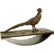 Bronzed Figural Ink Blotter with Bird - 1890's