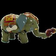 Walking Elephant and Monkey Wind-up Toy - 1920's