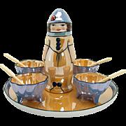 Noritake Lusterware Condiment Set - 1920's - Rare