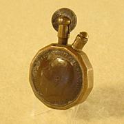 Brass and Copper Coin Trench Art / Folk Art Pocket Lighter