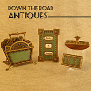Four Piece Bronze Desk Set with Enamel - 1890's