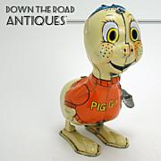 "Marx ""Piggy"" Tin Wind-up Toy - Near Mint"