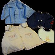 Children's clothes, 1930's, 4 pieces
