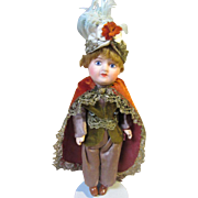 SFBJ painted bisque character, Turk, 8 1/2""