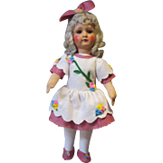 "Armand Marseilles painted bisque girl, Marked 450, 18"" tall"