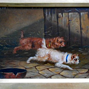 Oil Painting with Dogs - Terriers