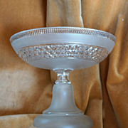 SOLD Art Deco French BACCARAT Crystal Compote, Fruit Bowl, Centerpiece C 1945