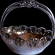 WMF Jugendstil Art Nouveau Silver Plated Basket, c 1900