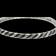 Vintage Sterling Silver Danecraft (Felch) Bangle Bracelet