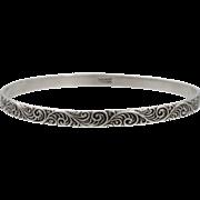 Vintage Sterling Silver Danecraft Bangle Bracelet