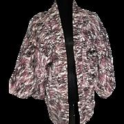 Japanese Silk Kimono Haori Printed pattern Mulberry