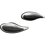 Rosewood  earrings Clip on Aluminum INLAY MCM