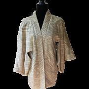Kimono Haori Cream Silk SILK Lining