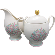 Franciscan sugar bowl and creamer Rossmore pattern