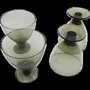 Orrefors Water glasses Brown Handblown crystal