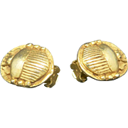 Scarab earrings  Alva MUseum reproductions CLip on