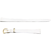 White Leather watch band NOS Calf Kreisler