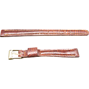 Brown Lizard Watchband Kreisler New Old Stock