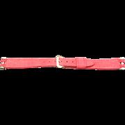 Watchband Red Suede Kreisler NOS Narrow