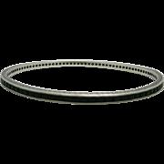 Eternity Bracelet Sterling silver Black Rhinestones Art Deco