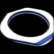 Blue and white Plastic bracelet layered laminated