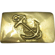 Anchor Belt Buckle Heavy cast Brass Anchor and rope