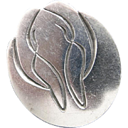 Walrus pin Sterling silver slightly abstract