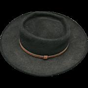 Western HAT Stetson Black Gun Club royal flush Size 7