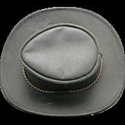 Black Cowhide Hat Waxed Australian Bush hat