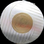 Large Compact ELGIN American ANN Monogram
