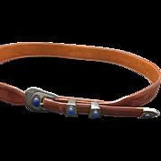 ranger belt buckle sterling SILVER LAPIS LAZULI