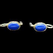 Lapis lazuli earrings Pierced sterling silver findings