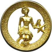 Virgo Pin Gold tone metal Zodiac Park Lane