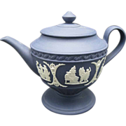 Wedgwood Mini Teapot  Classical Figures Blue and White