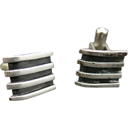 Cufflinks Sterling silver Mexican Small Handmade