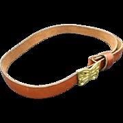 Leather Hippie Belt Brass Butterfly Buckle Cast