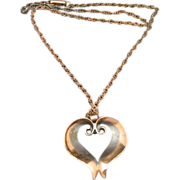 Copper Heart Heart Necklace Bell Trading Post