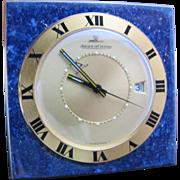 Vintage Jaeger LeCoultre Miniature Lapis Travel Alarm Clock