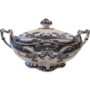 """Antique English Royal Staffordshire Art Nouveau Style """"Iris"""" Porcelain Tureen Servin"""