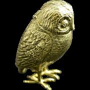 SOLD Dutch 835 Silver Owl Salt Shaker