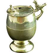 Sanborns 925 Sterling Silver Mexican Figural Mustard Pot