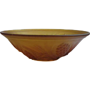 Vintage Jobling Bowl Amber Fir Cone